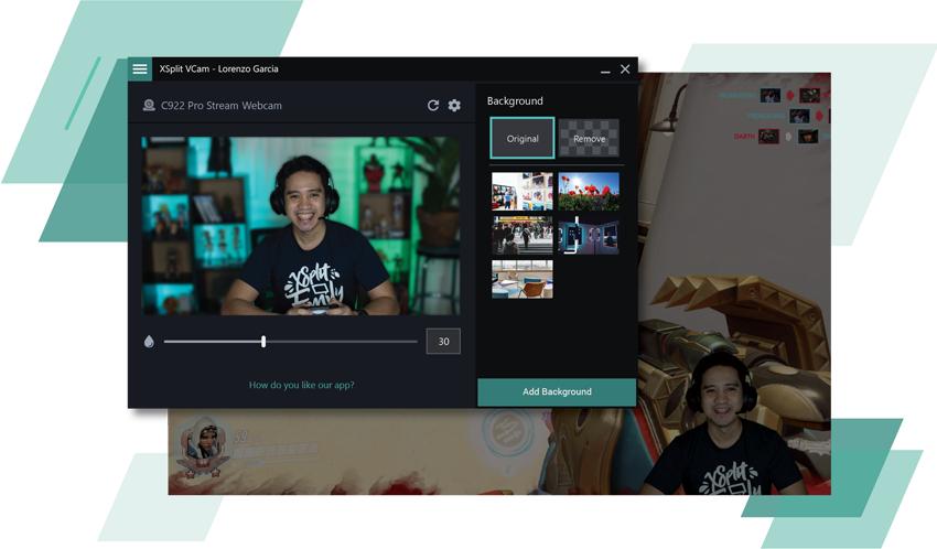 3 meses de XSplit VCam (chroma para webcam) GRATIS