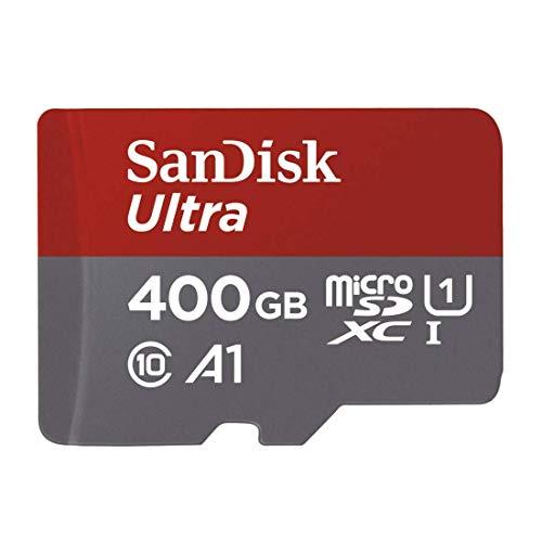 Tarjeta de memoria microSDXC 400 GB SanDisk Ultra + adaptador SD con velocidad 100 MB/s