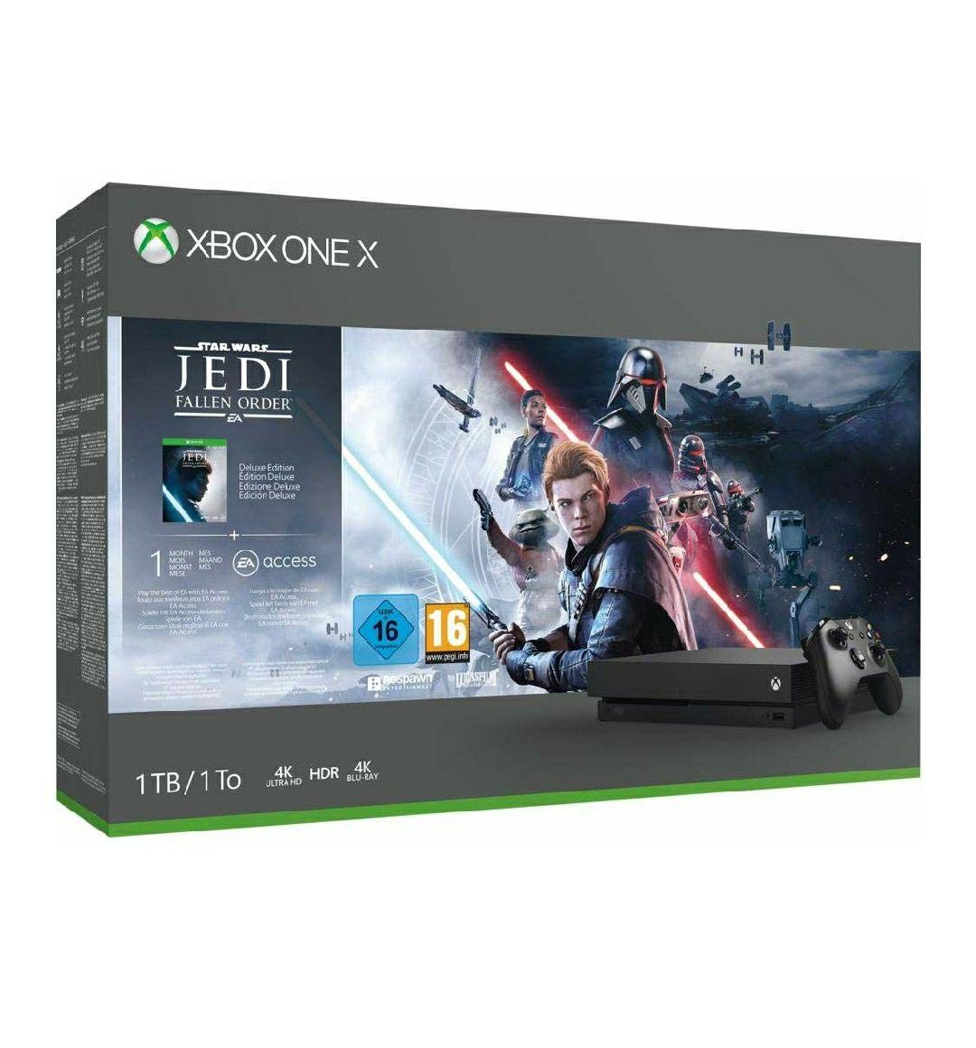 Microsoft Xbox one X 1 tb, mando inalámbrico + Star Wars Jedi Fallen Order