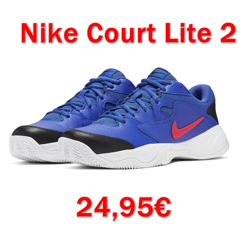 Zapatillas tenis/pádel hombre Nike Court Lite 2 por sólo 24,95€ (Varias tallas)