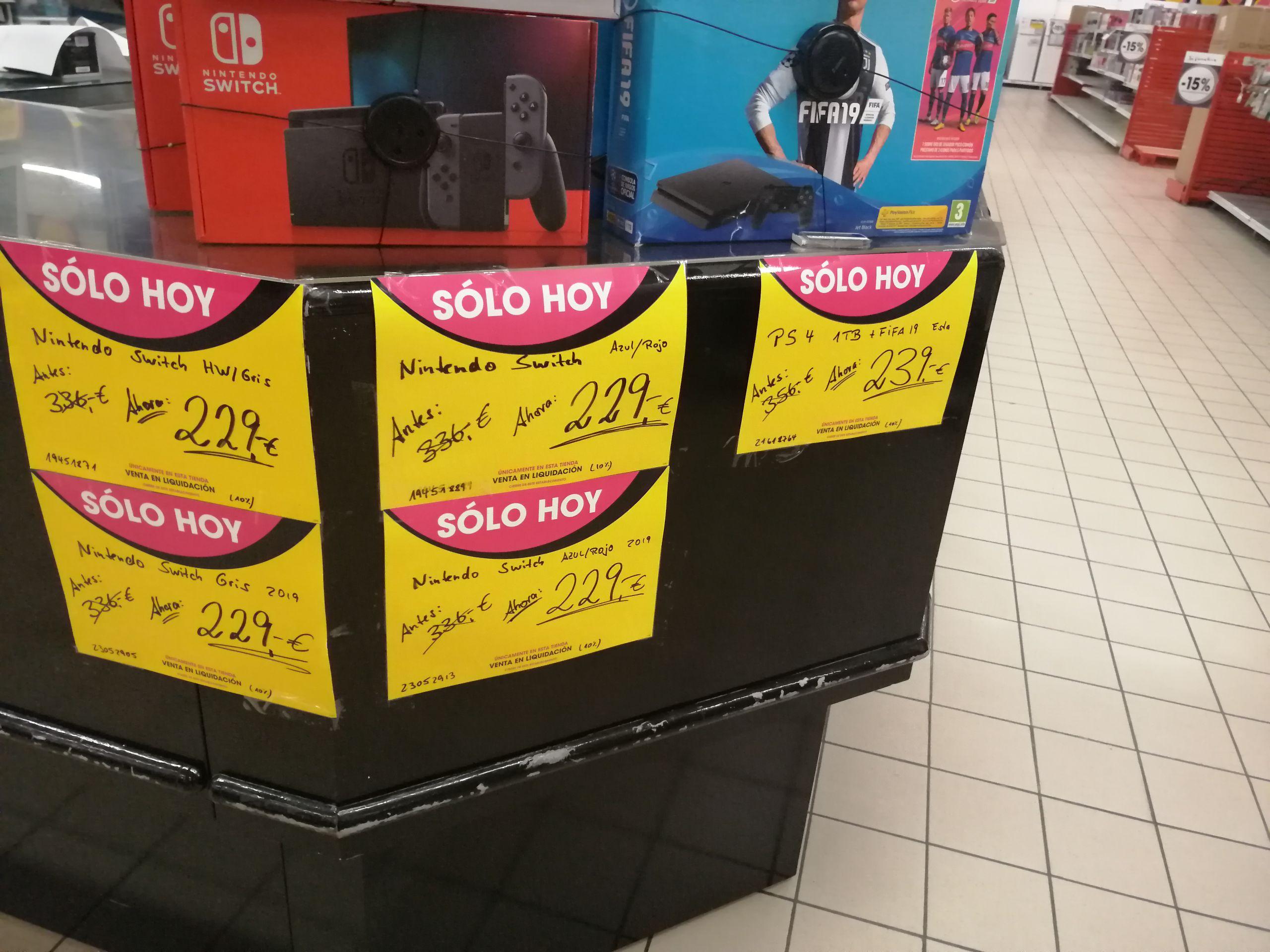 Eroski CC El mirador liquidación Nintendo Switch 229€ Gran Canaria