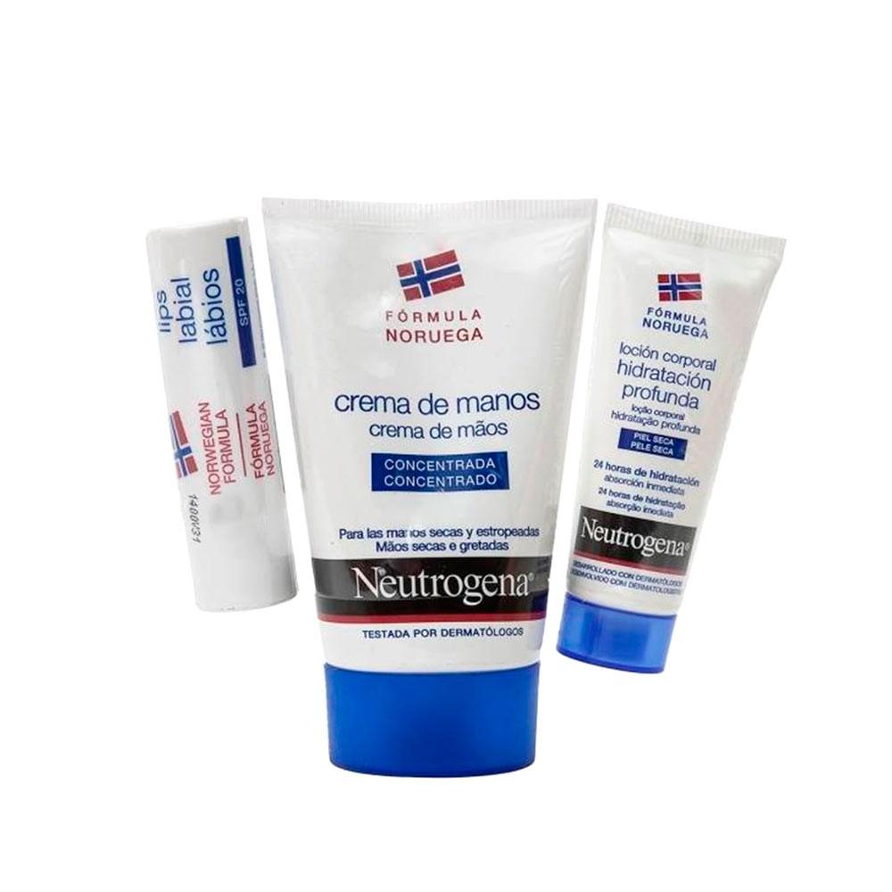 Neutrogena Pack crema de manos de hidratación intensa 50 ml + Labial