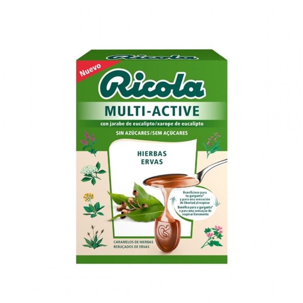 Ricola Multi-active con jarabe de eucalipto y mentol