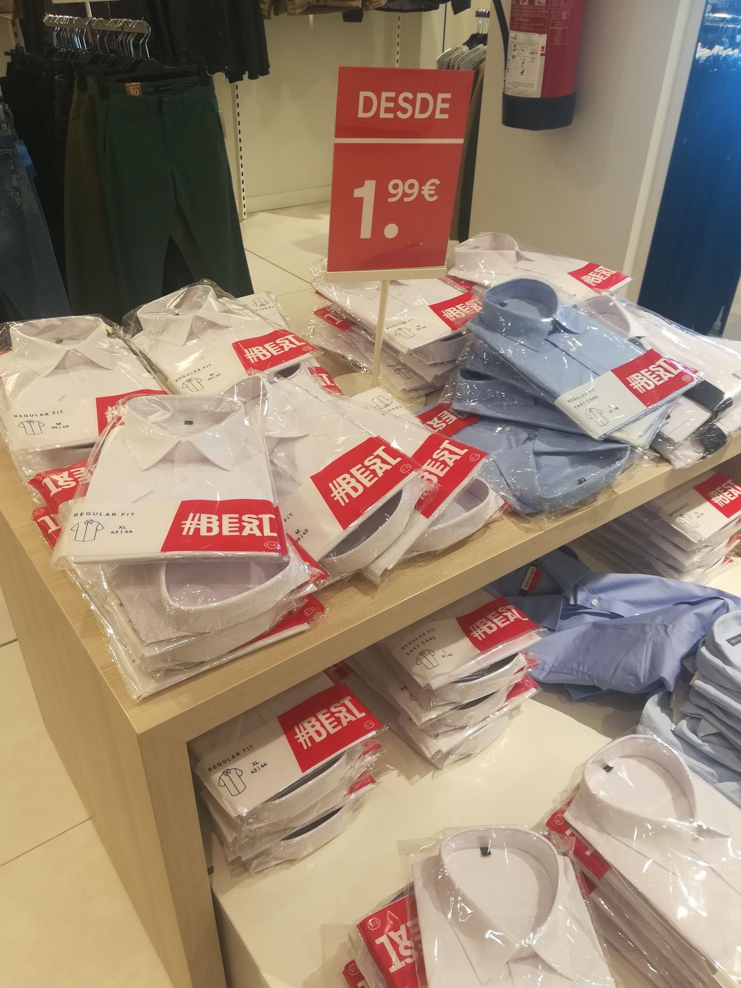 Camisas caballero 1,99€