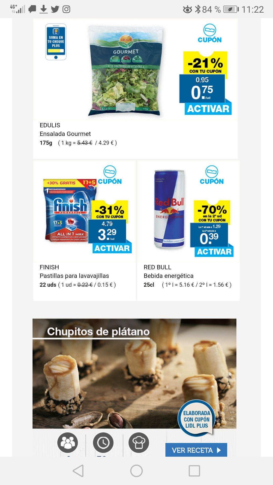 Oferta cupón app lidl