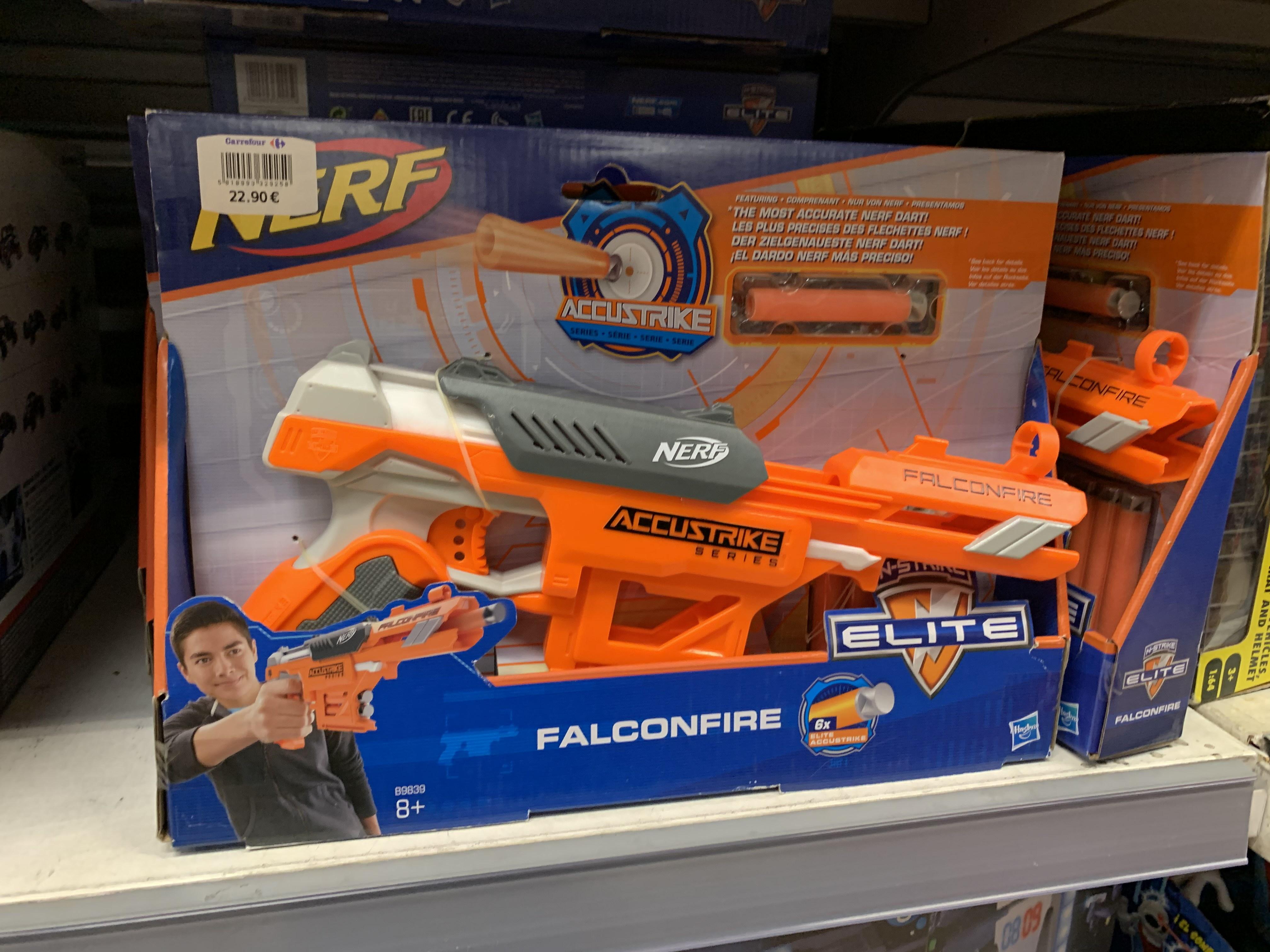 Pistola NERF Falconfire (Carrefour Murcia)