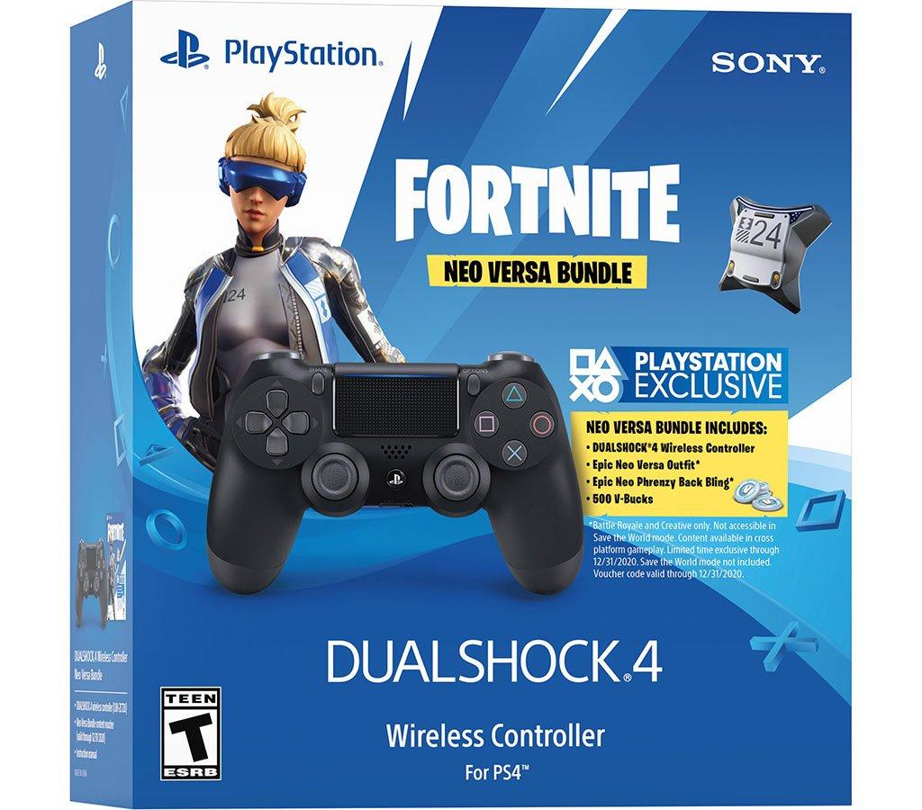 MANDO PS4 DUALSHOCK + 500 PAVOS VOUCHER FORNITE