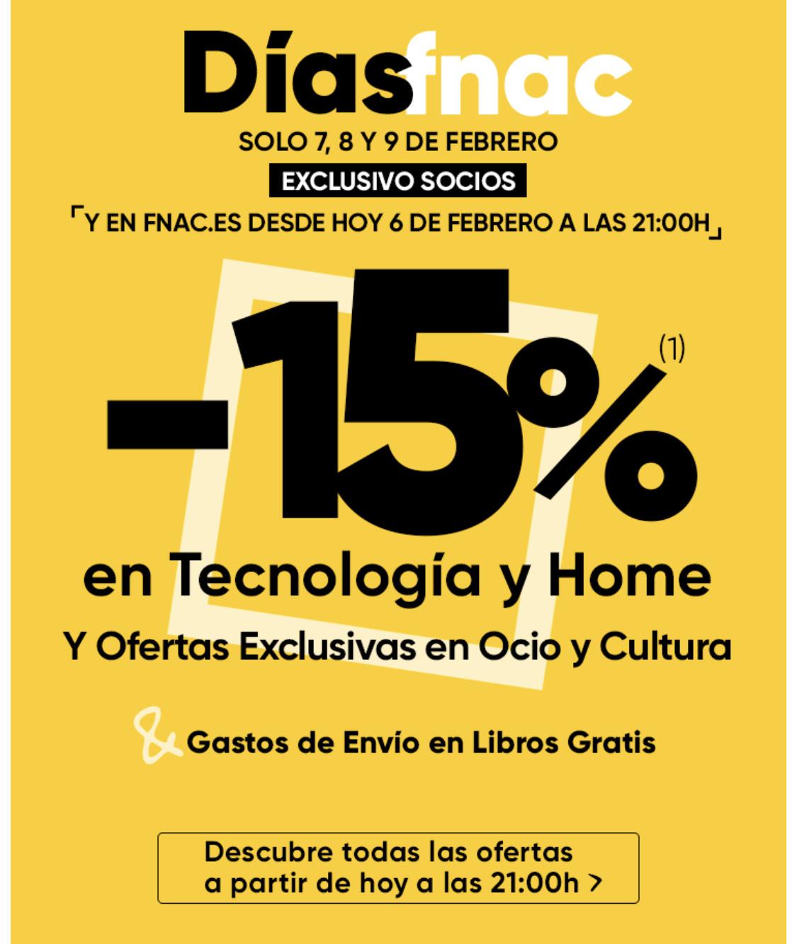 DÍAS FNAC -15%