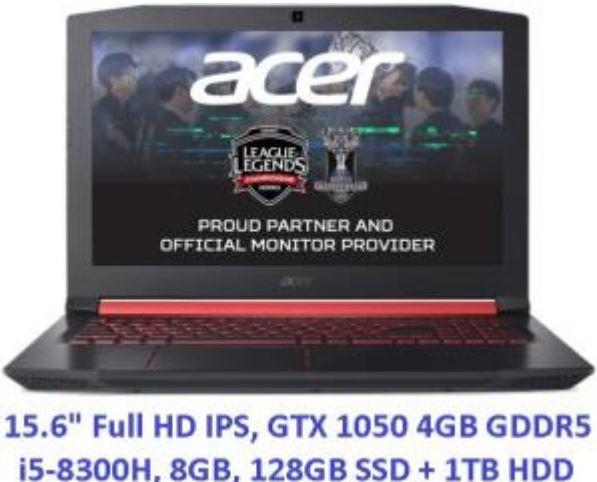 "Portátil gaming 15.6"" Full HD, GTX 1050 4GB GDDR5, i5-8300H"