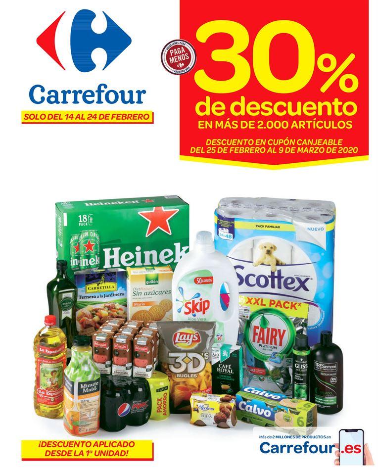 Nuevo catálogo Carrefour del 14 al 24 de febrero: 30% acumulación