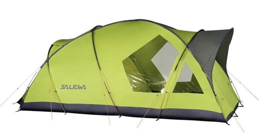 SALEWA Alpine Lodge V Tienda geodésica de Doble Pared, para 5 Personas, Adultos Unisex, Cactus/Gris, Talla Única
