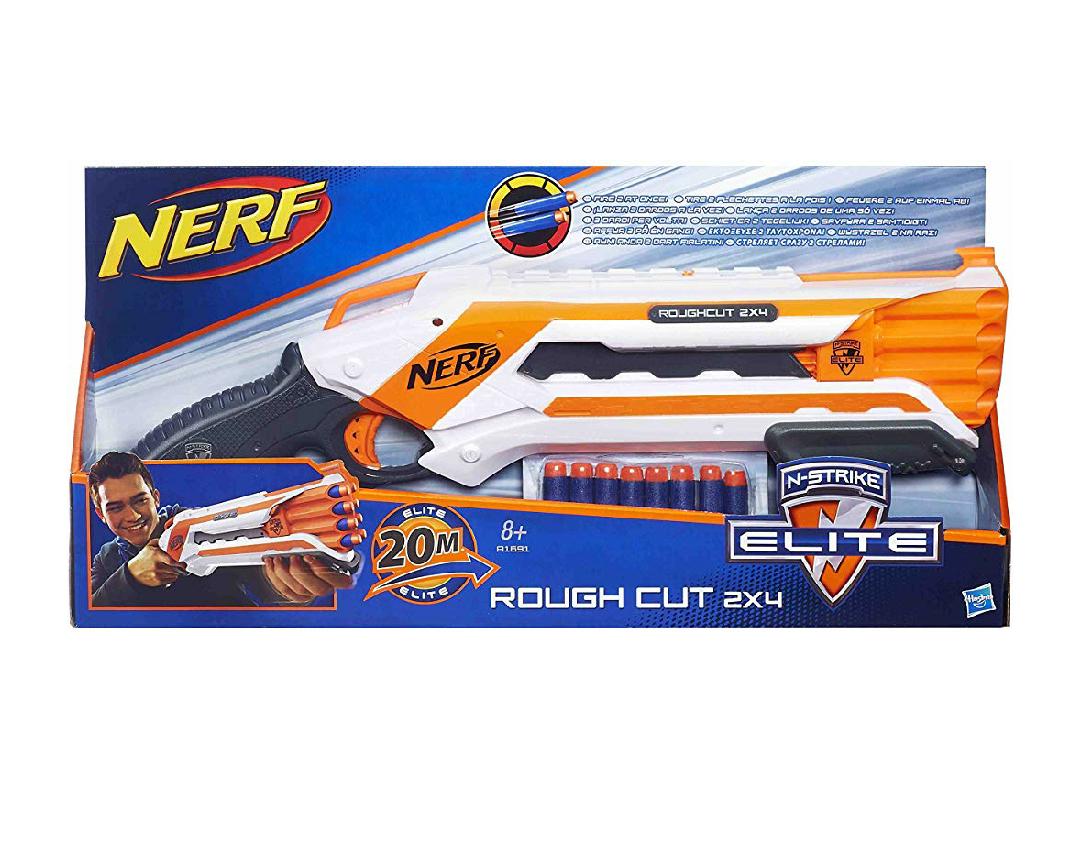 Pistola Nerf - Elite Rough CUT 2x4