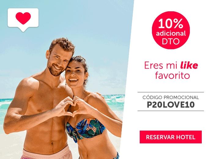 Descuento 10% en San Valentín con Hoteles Barceló