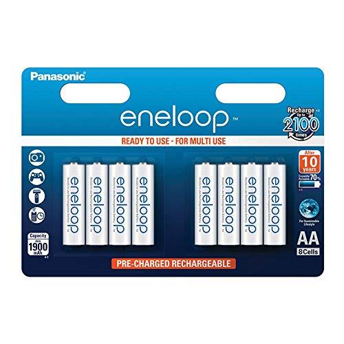 Descuento en 8 pilas AA recargables Eneloop