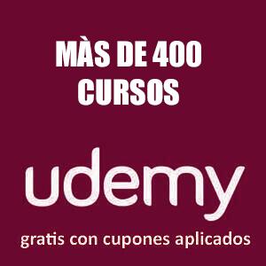 +400 cursos variados: Desarrollo, Webs, Photoshop, Python, Javascript, Java, C# (udemy, español, inglés)