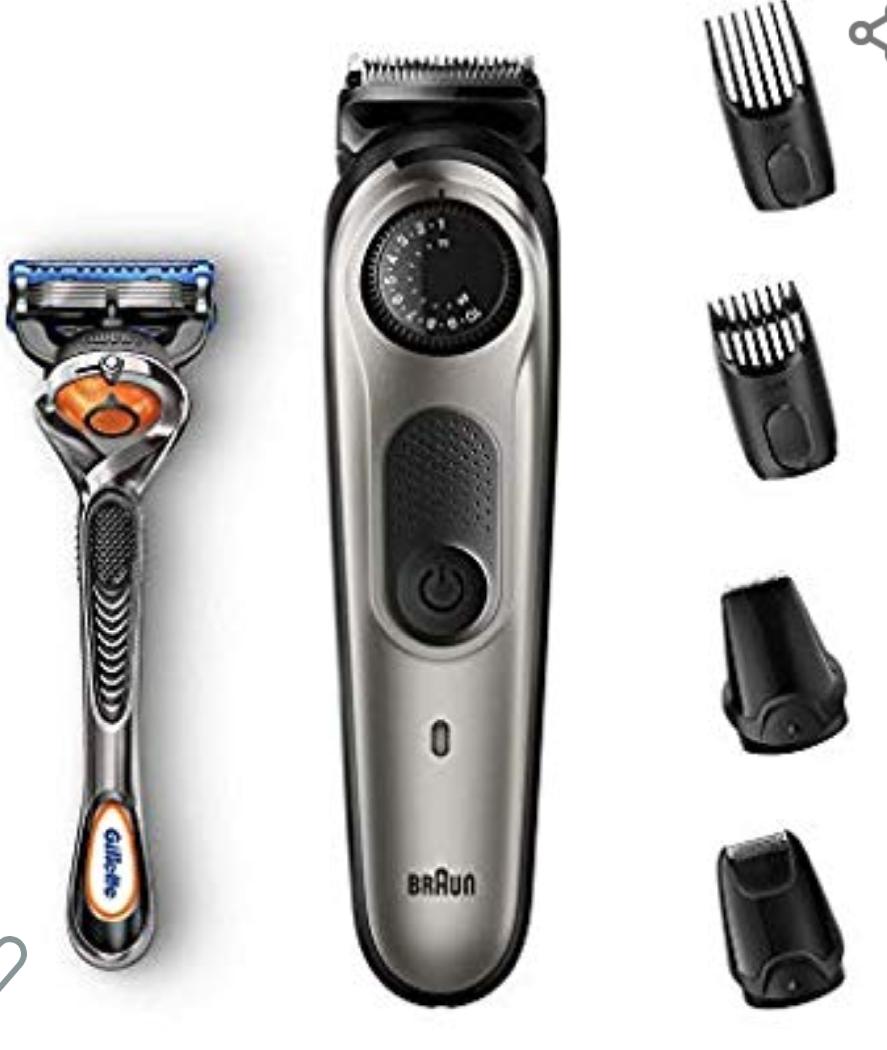 Recortadora de barba y cortapelos Braun BT7020