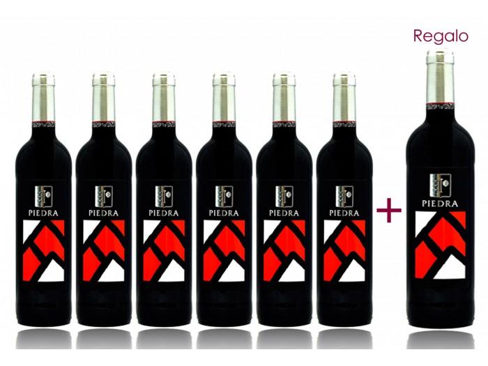 8x botellas Vino Piedra Roja 2012 solo 27.9€