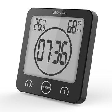 DG-BC10 Reloj de pared del baño LCD digital Ventosas a prueba de agua