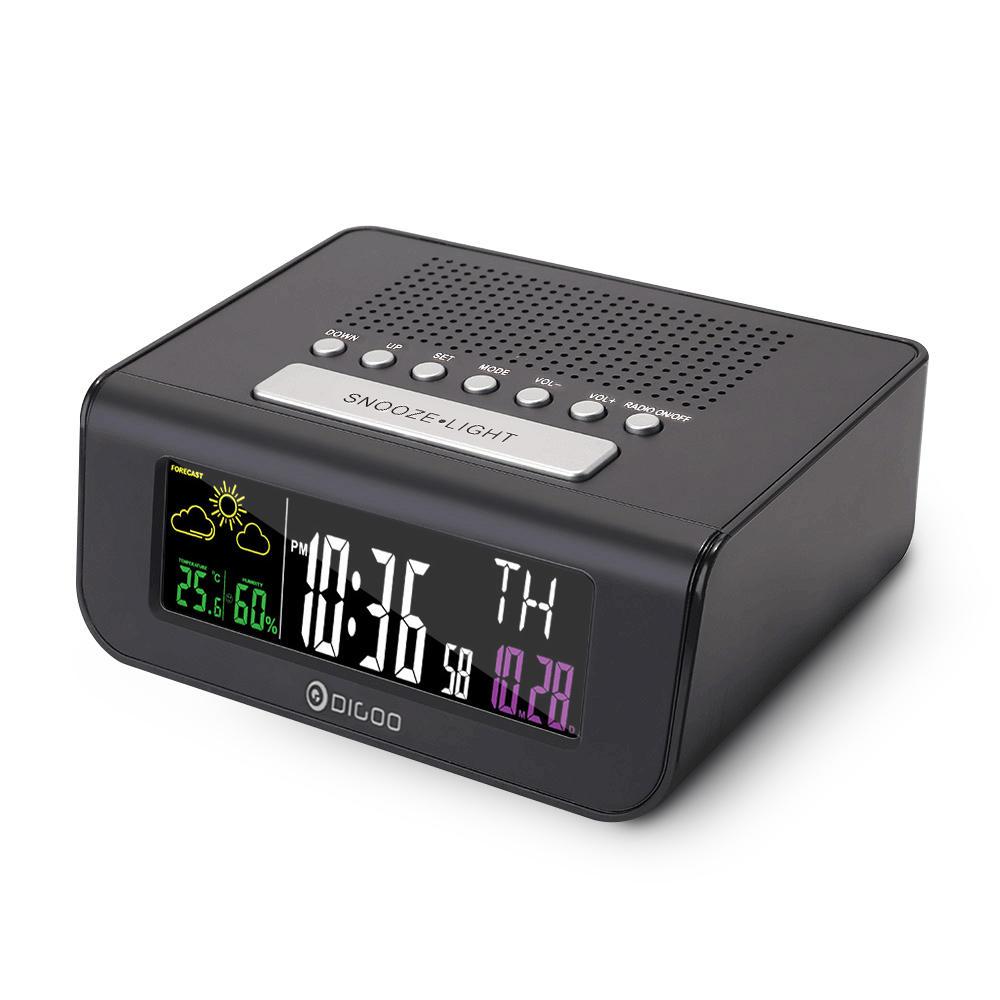 Despertador, radio FM y previsión del tiempo Digoo DG-FR100