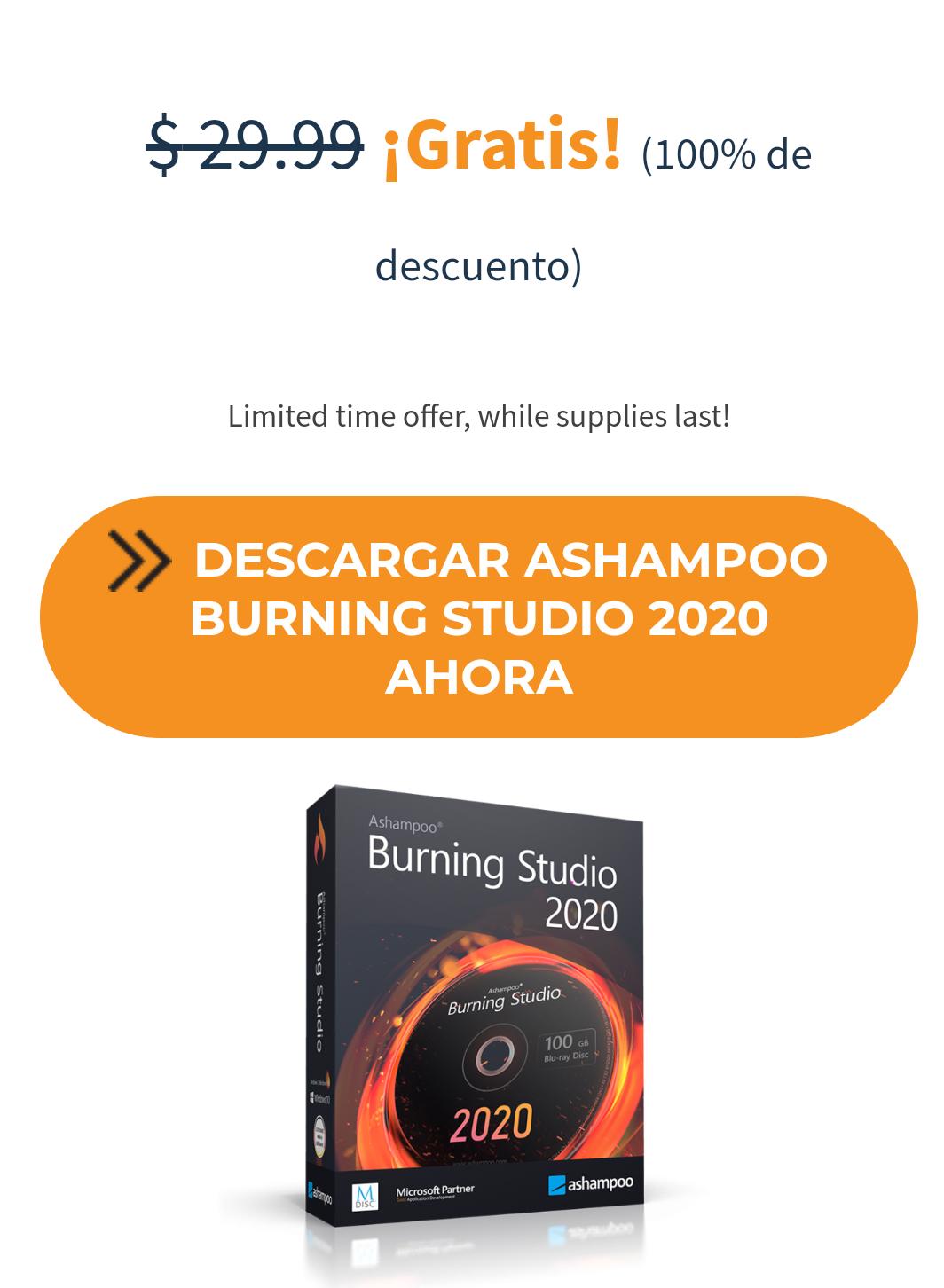Ashampoo 2020 burning studio GRATIS (PC)