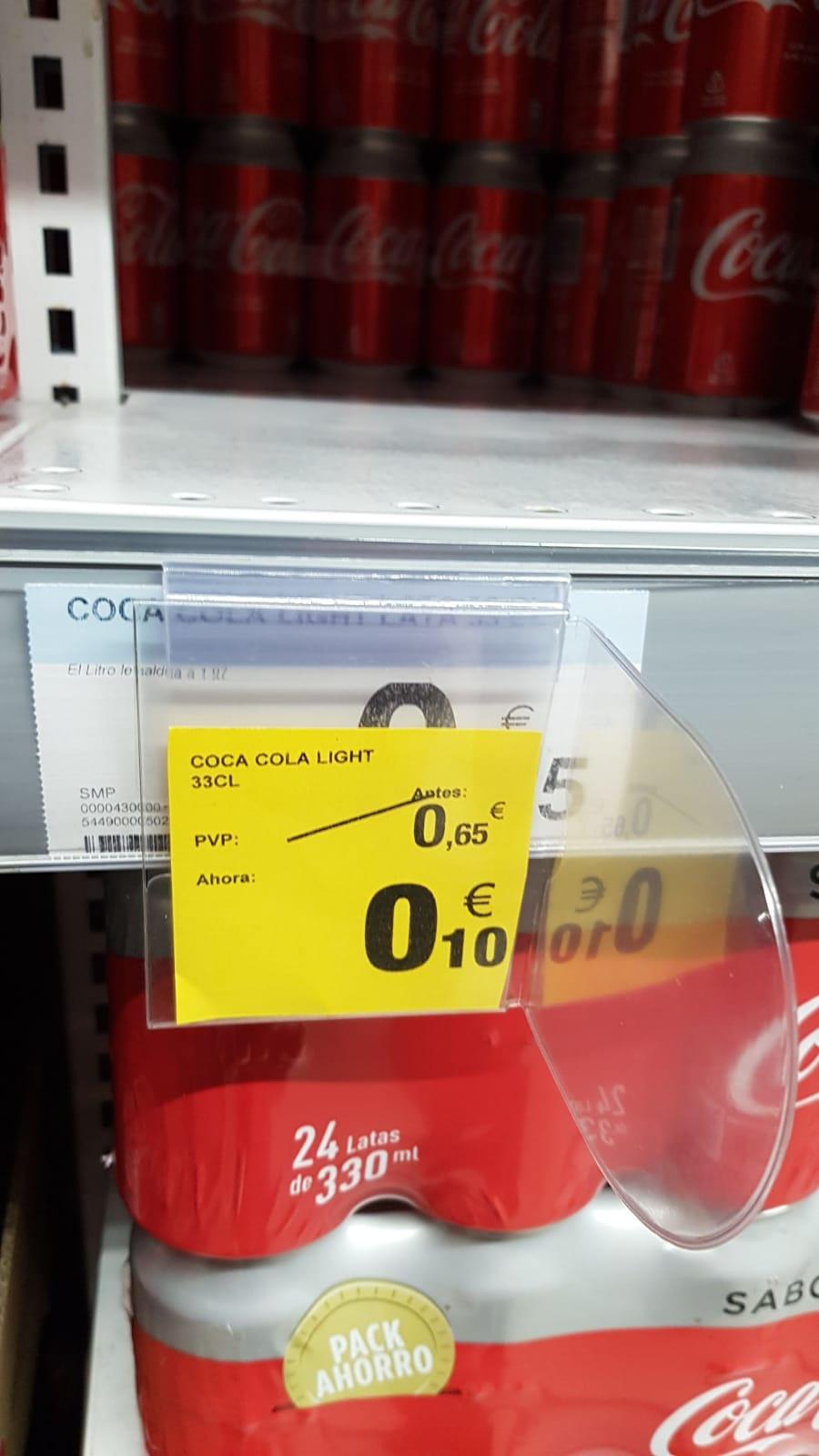Coca cola light 33cl a 0.10€ - cad: 04/20 carrefour aluche