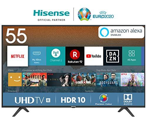 "Smart TV Hisense 55"" 4K UltraHD con Alexa integrado"