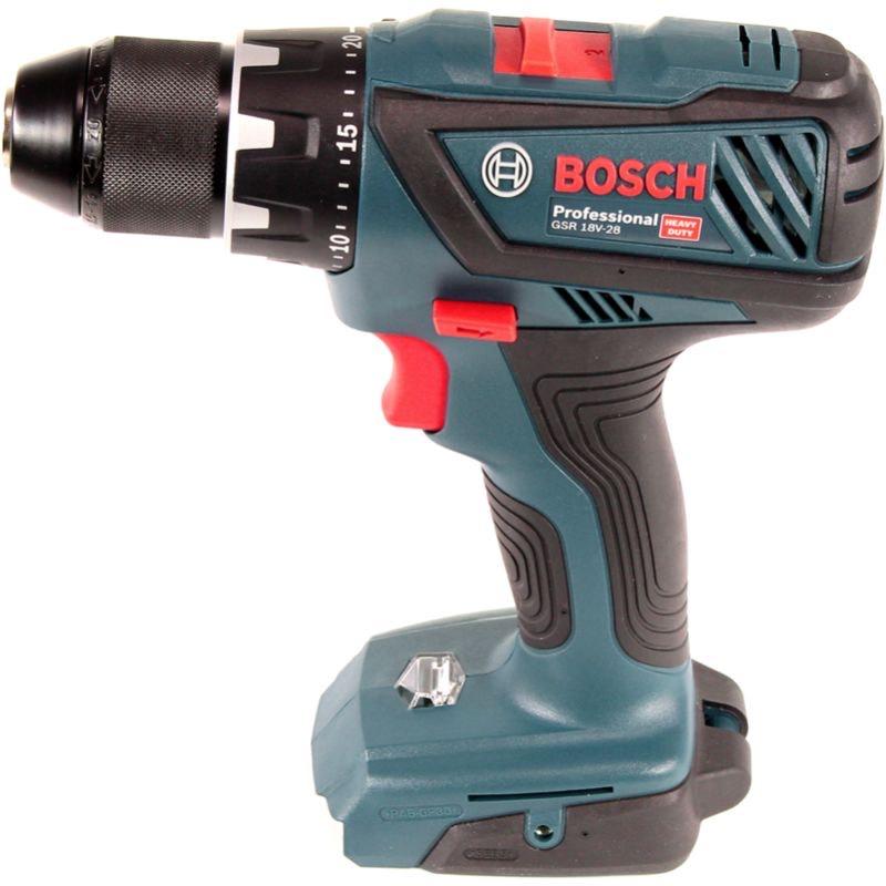 Bosch Professional GSR 18V-28 - Atornillador a batería (sin batería, 18V, 63 Nm, en caja)