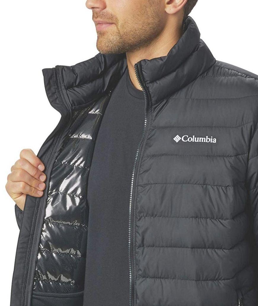 Columbia Powder Lite Jacket Chaqueta, Hombre, Negro (Black), XL