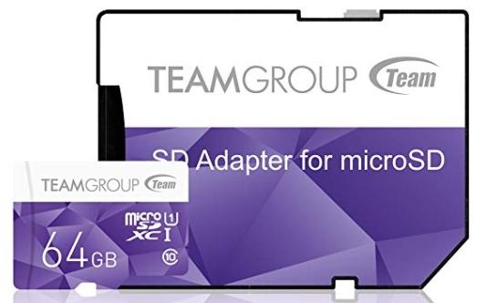 Team Group Micro SD Morado 64 GB Class 10 UHS-I Colour