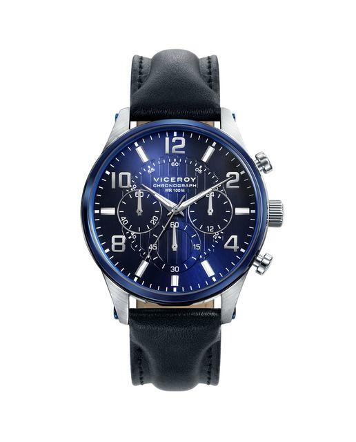 Reloj de Hombre Viceroy Magnum cronógrafo de acero con IP azul