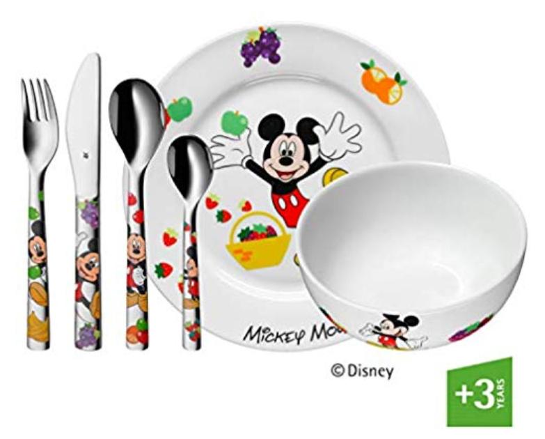 Vajilla para niños de Mickey mouse, 6 piezas