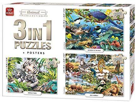 3 puzzles 2x1000 piezas y 1x500piezas