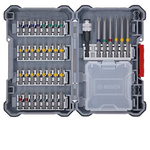 Bosch Professional 40 unidades para atornillar (Pick and Click, puntas muy resistentes para atornillar, con portapuntas universal