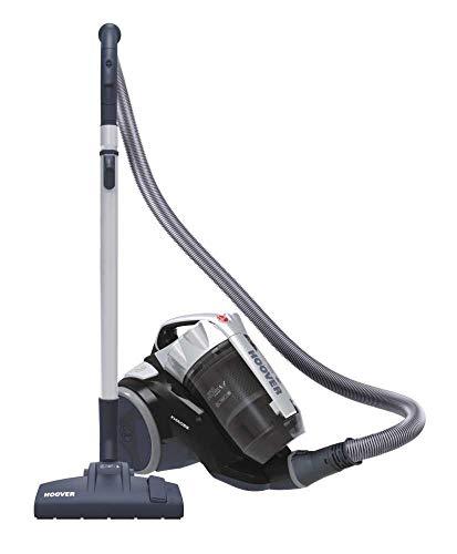 Hoover Khross KS 31 Par 39002170 - Arrastre multiciclónico sin Bolsa con Cepillo para parqué, 550 W, Color Gris y Negro