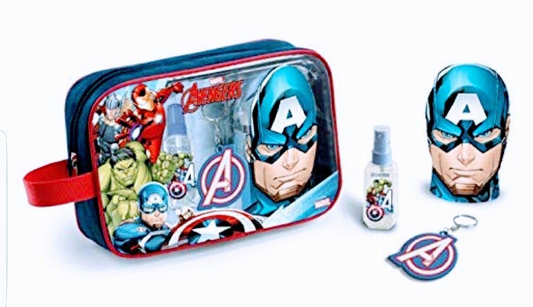 Avengers neceser: 90 ml. colonia+ Gel 300ml +llavero.