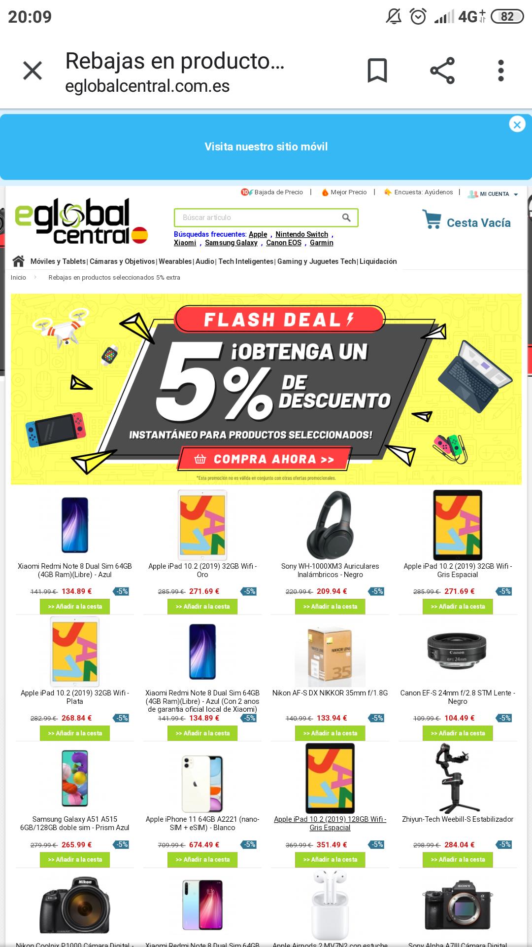 eglobalcentral Descuento del 5% en productos seleccionados