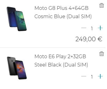 Moto G8 Plus + Moto E6 Play