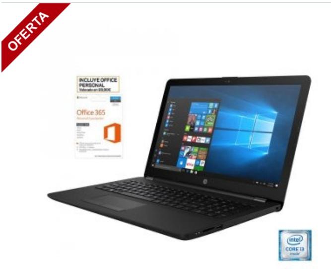 "Portátil HP i3, 15"" (HP 15-BS066ns) + Microsoft Office 365"