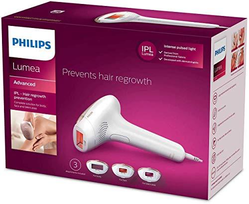 Philips Lumea Advanced Depiladora Luz Pulsada + 2 accesorios