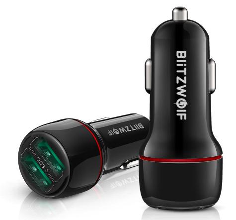 USB BlitzWolf BW-SD5 18W de doble puerto 3.0 mini cargador