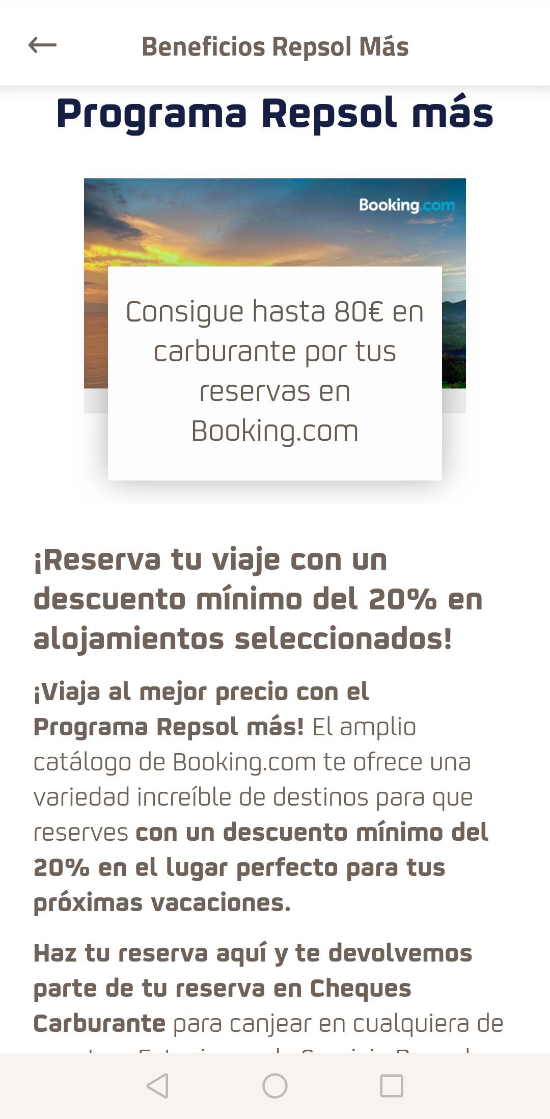 Hasta 80€ de carburante por reservar en Booking.com