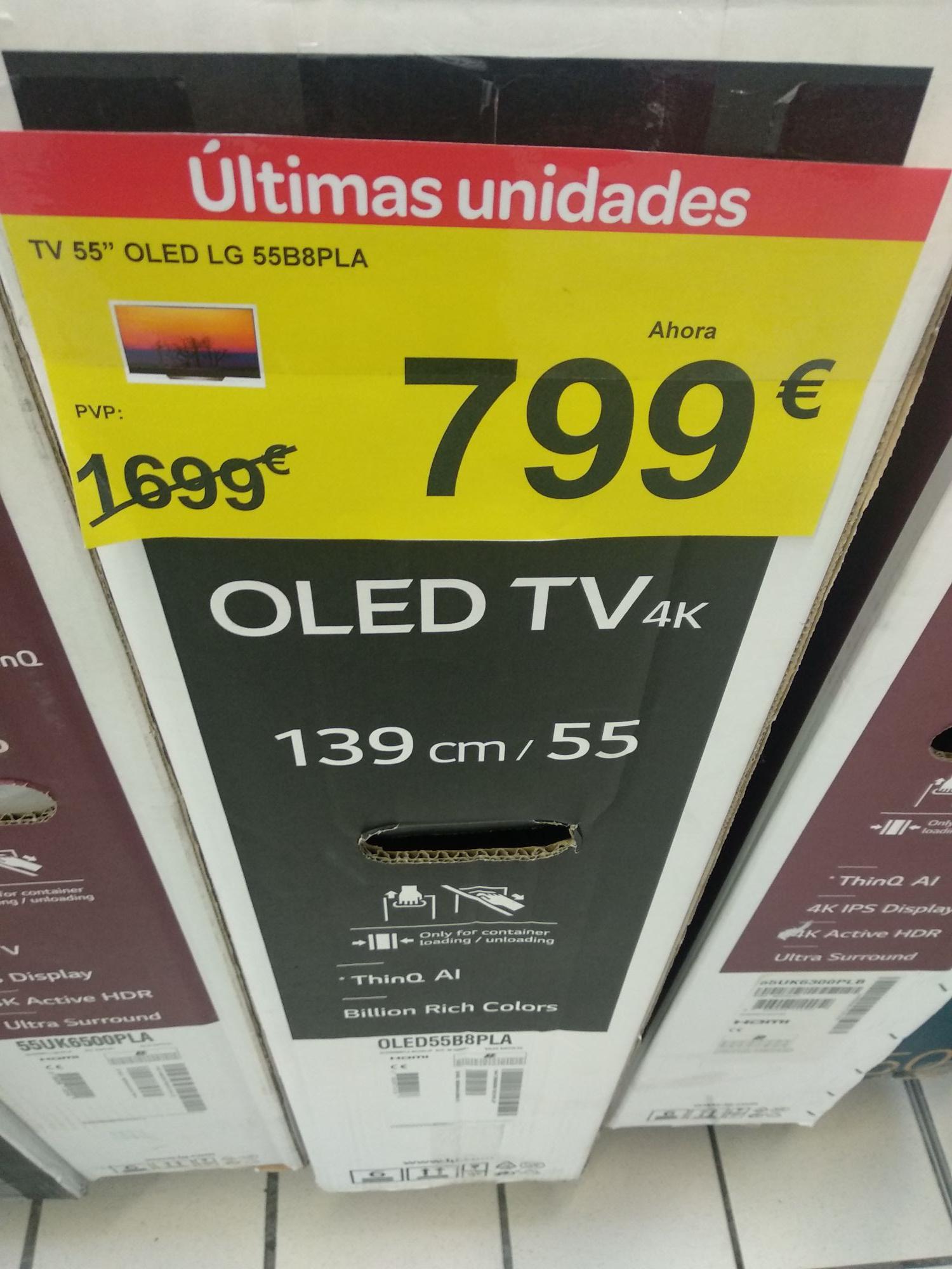 TV LG OLED 4K 55B8 en Carrefour Talavera