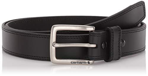 TALLA 38 - Carhartt 2217, Cinturón de piel robusto, Negro