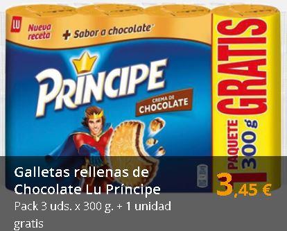 Galletas Lu Príncipe 3 uds. x 300 g. + 1 unidad gratis
