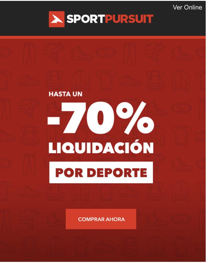 LIQUIDACIÓN Sportpursuit Hasta un 70% de descuento