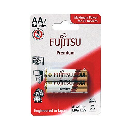 Fujitsu - Pack de 2 PILAS alcalinas Premium AA