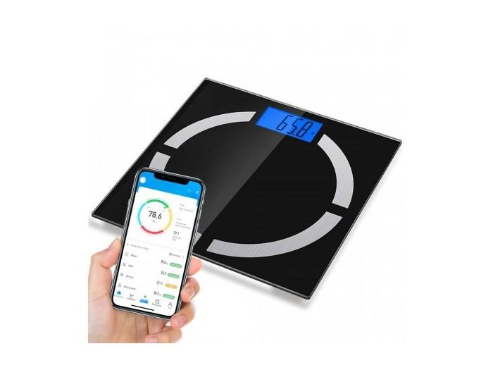 Báscula corporal inteligente Bluetooth con APP (configuración hasta 8 perfiles)