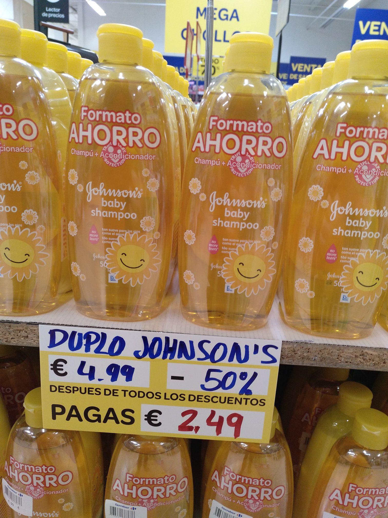 Shampoo y crema de enjuague Johnson baby (Outlet de Carrefour paterna)