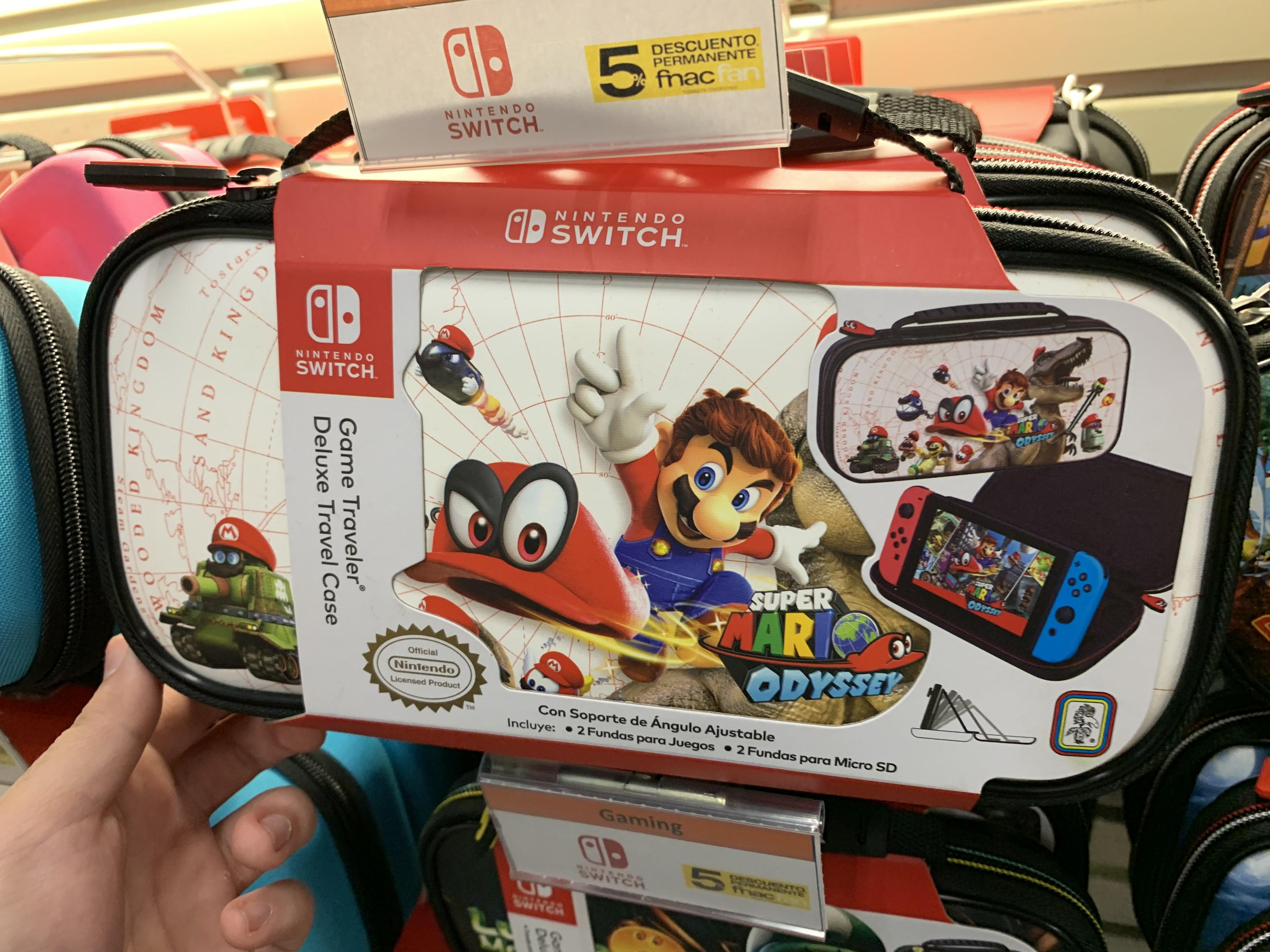 Funda Nintendo Switch oficial Mario Odyssey (Fnac Murcia)