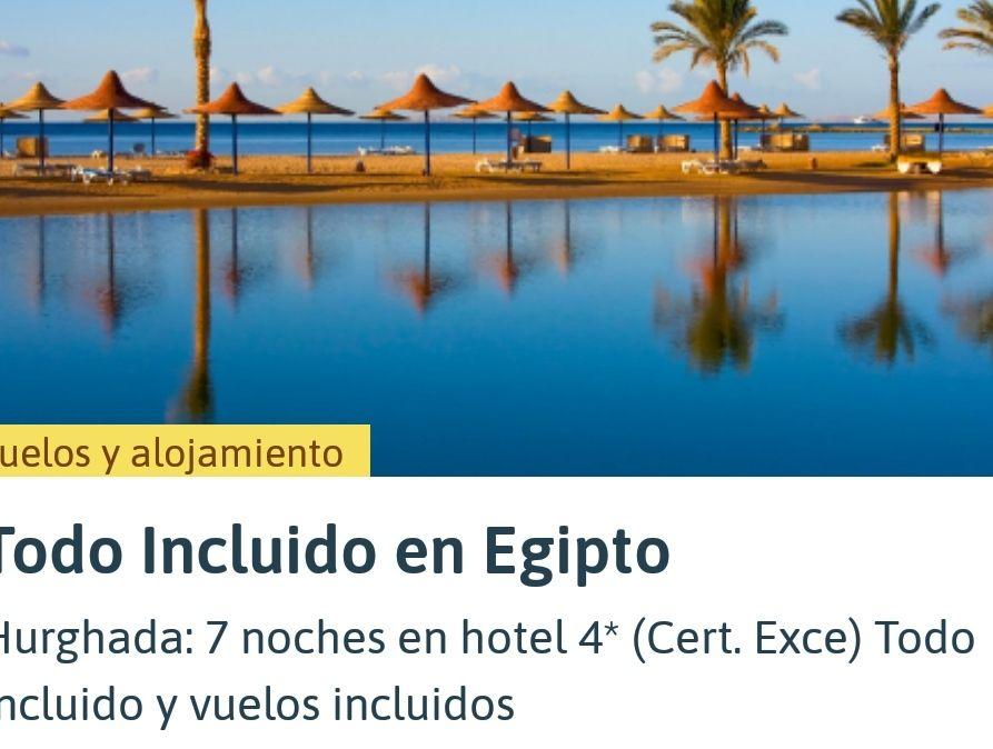 Egipto (Marzo) 7 noches hotel 4*(todo incluido) + Vuelos + maleta fct (Barcelona)
